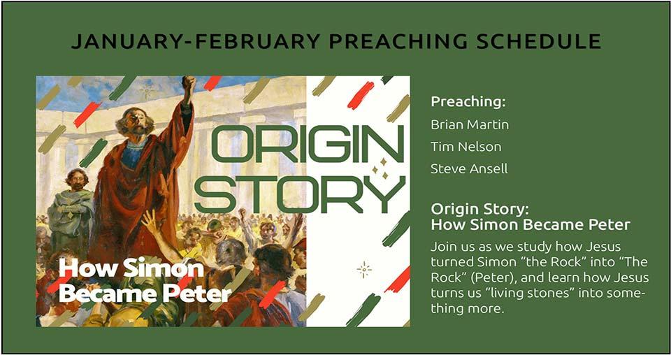 Origin Story Preaching Series