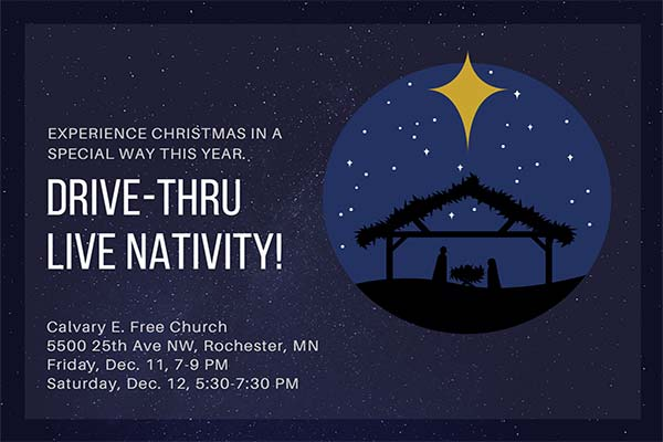 Drive-Thru Live Nativity