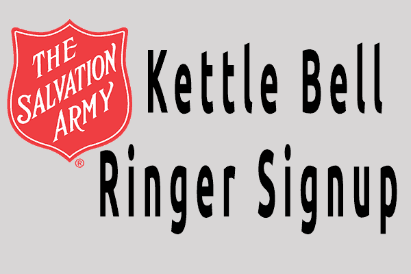 salvation army bell ringer signup