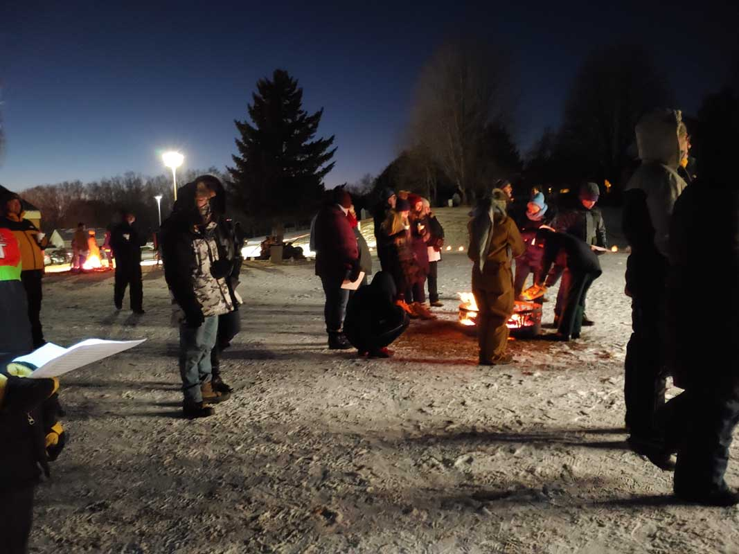 Christmas Eve Gather Out at Calvary