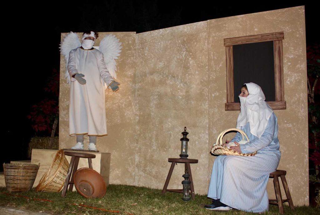 drive thru nativity Mary Angel