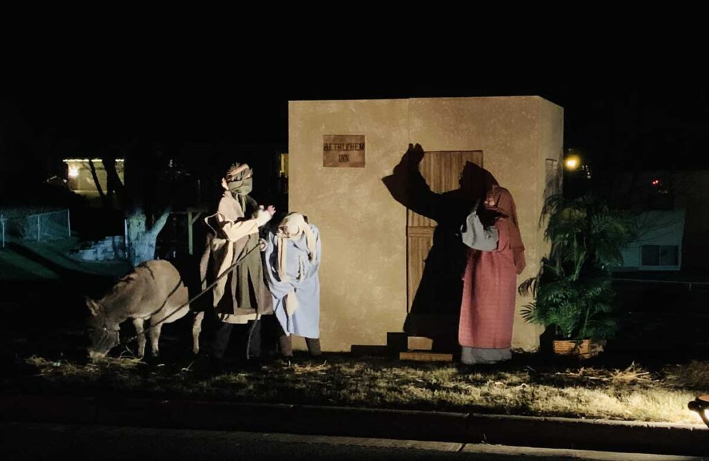 drive thru nativity no room
