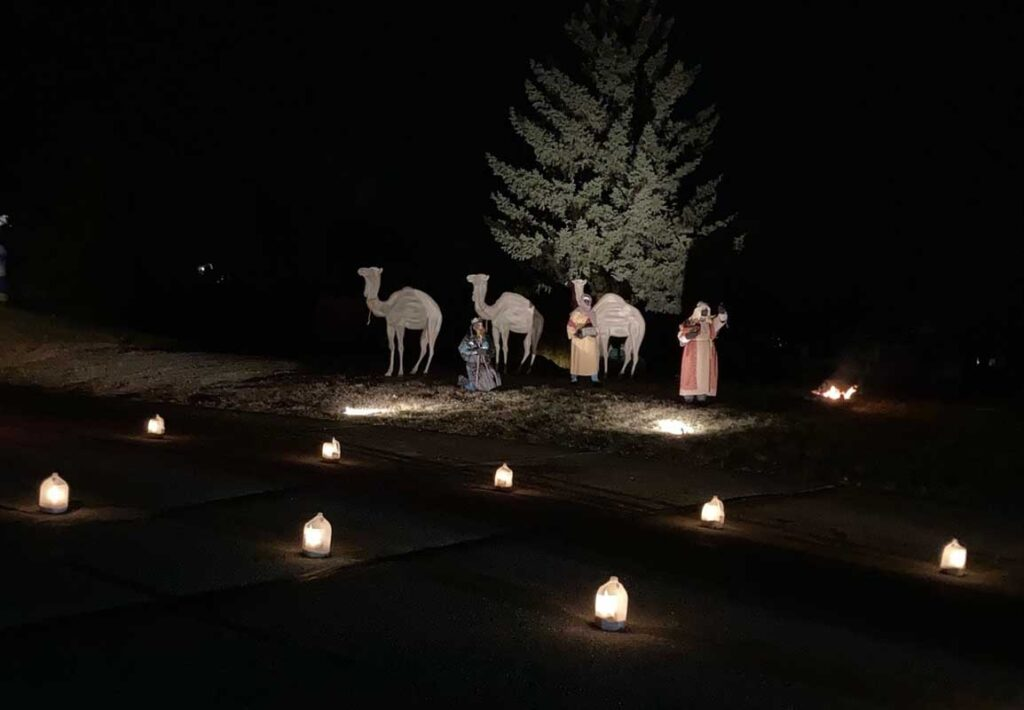 drive thru nativity wisemen