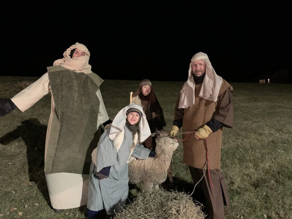 Drive-thru Live Nativity - the sheperds